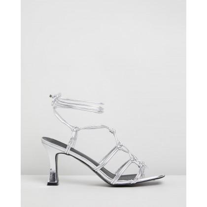Helen Heels Silver Metallic by Dazie