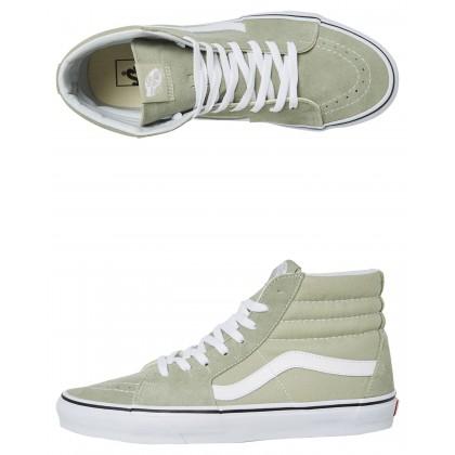 Womens Sk8 Hi Shoe Desert Sage White By VANS