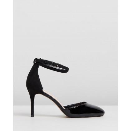 Patent Eleanor Court Heels Black by Dorothy Perkins