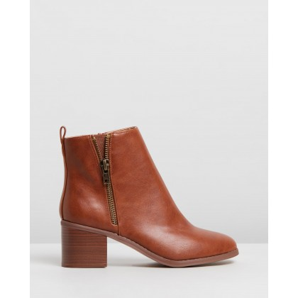 Alceed Ankle Boots - Wide Fit Tan by Dorothy Perkins