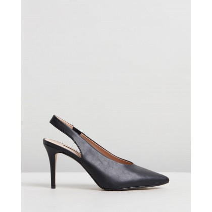 Daisy Slingback Court Heels Black by Dorothy Perkins