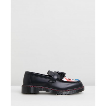 Adrian WHO Tassel Loafers - Unisex Black by Dr Martens