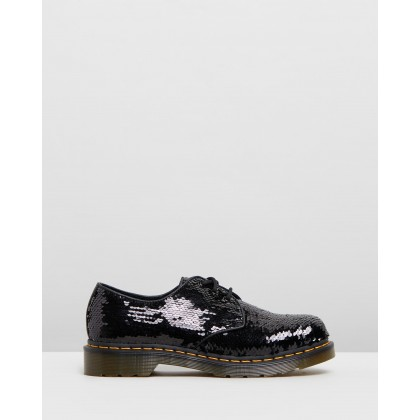 1461 Sequin - Women's Black & Silver Sequins by Dr Martens
