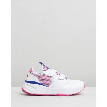Cesana White, Bold Blue & Super Pink by Ellesse