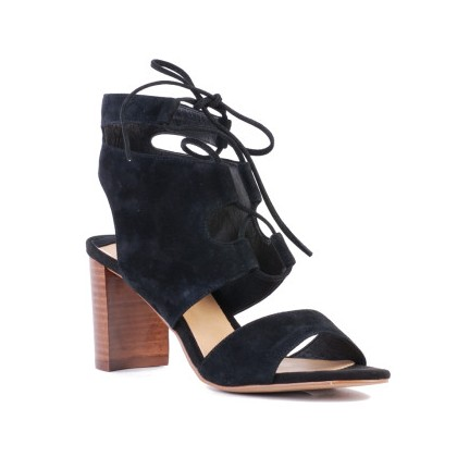 Flyer - Black Suede by Siren Shoes