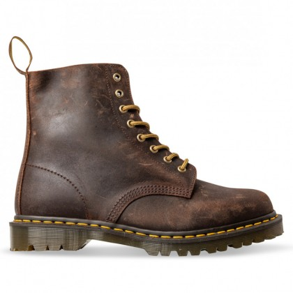 1460 8 EYE MADE IN ENGLAND Mid Brown Wax Commander