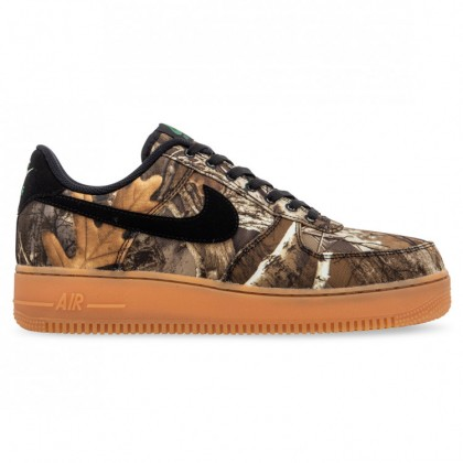 AIR FORCE 1 CANVAS Black Aloe Verde Gum Medium Brown