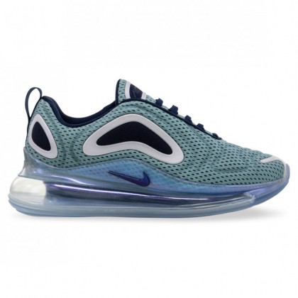 AIR MAX 720 WOMENS Metallic Silver Midnight Navy