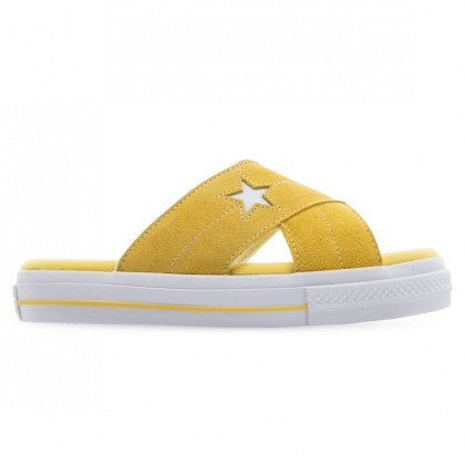 ONE STAR SANDAL WOMENS Butter Yellow Egret White