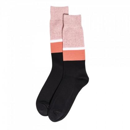 EIGHTY FOUR CALF SOCK Pink Black