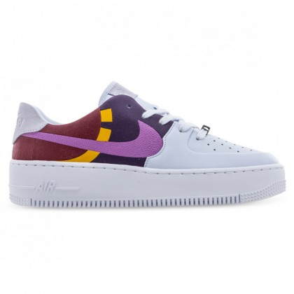 AIR FORCE 1 SAGE LOW LX Football Grey Dark Orchid Team Red