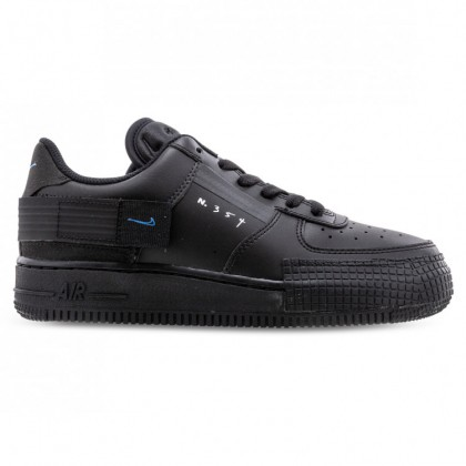 AIR FORCE 1 TYPE Black Photo Blue Platinum Tint