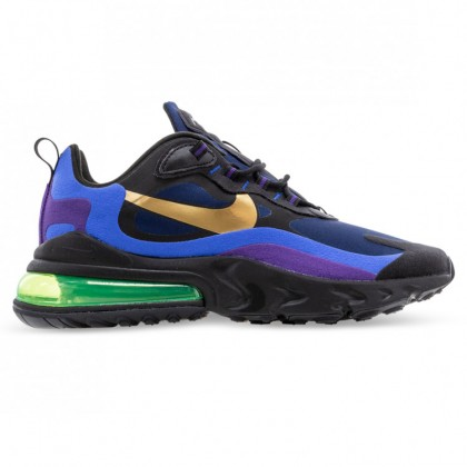 AIR MAX 270 REACT Black University Gold Deep Royal Blue