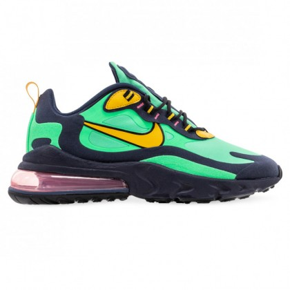 AIR MAX 270 REACT Electro Green Yellow Ochre Obsidian Black Sunset Pulse White