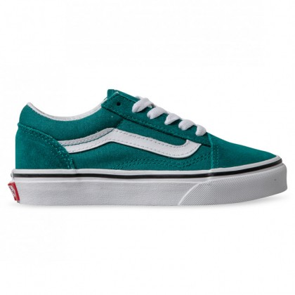 OLD SKOOL KIDS Quetzal Green True White