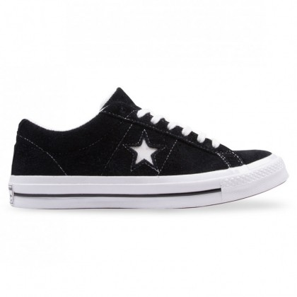 ONE STAR Black White Suede