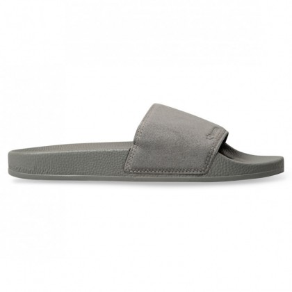 SUEDE POOL SLIDES Grey Dark Sage