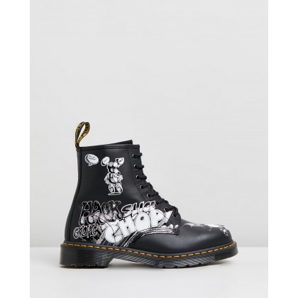1460 Rick Griffin - Unisex Black Heritage by Dr Martens