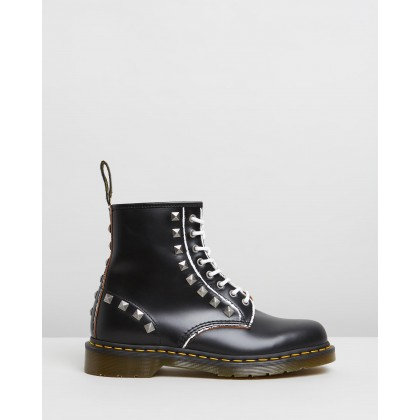 1460 Stud Vintage Smooth Black by Dr Martens