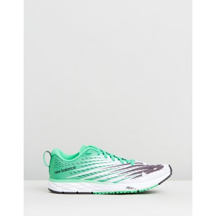 1500 - Women's White & Green by New Balance