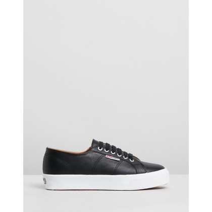 2730 Nappa Leather - Women's Black & White by Superga