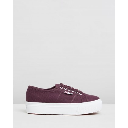 2790 ACOTW Linea Up and Down Red Dark Wine by Superga