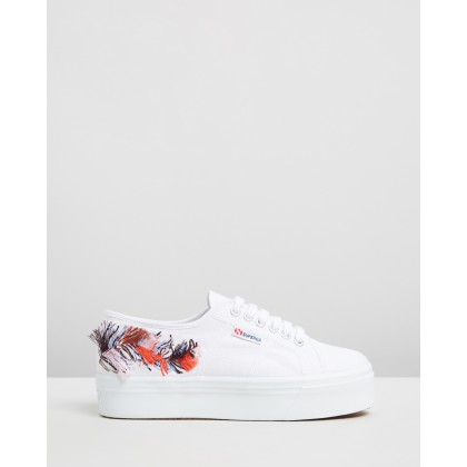 2790 Fringe Embroidery Sneakers White by Superga