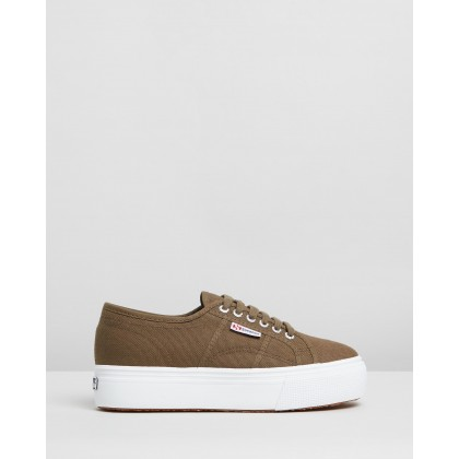 2790 Linea Up and Down - Women's Military Green by Superga