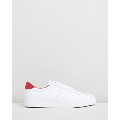 2843 Clubs Comfleau Sneakers - Women's White & Fuchsia by Superga