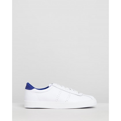 2843 Sport Club Sneakers - Unisex White & Blue Royal by Superga