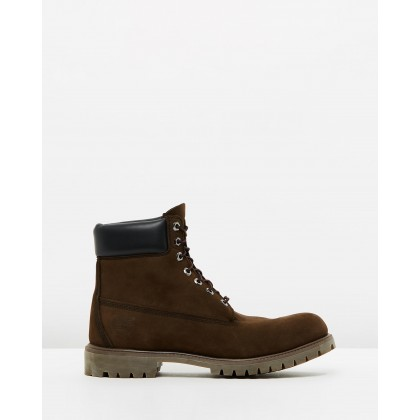"6"" Premium Icon Boots Dark Brown Nubuck by Timberland"