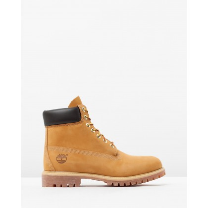 "6"" Premium Waterproof Boots Wheat Nubuck by Timberland"