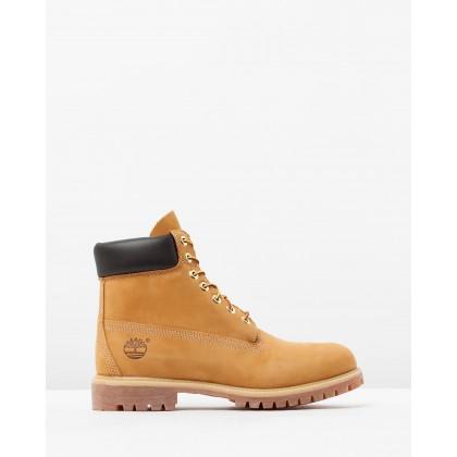 "6"" Premium Waterproof Boots Wheat Nubuck by Timberland"