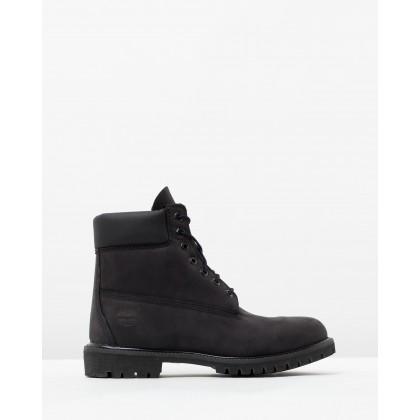 "6"" Premium Waterproof Boots Black Nubuck by Timberland"