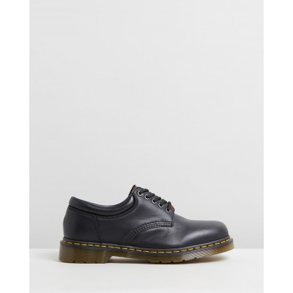 8053 5 Eye Shoes - Unisex Black Nappa by Dr Martens