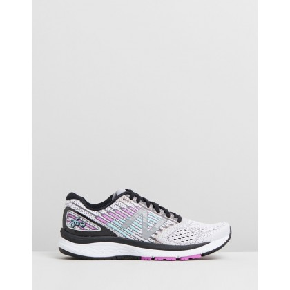 860 - Women's White & Purple by New Balance