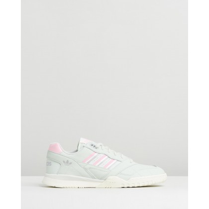 A.R Trainers - Unisex Linen Green, True Pink & Off White by Adidas Originals
