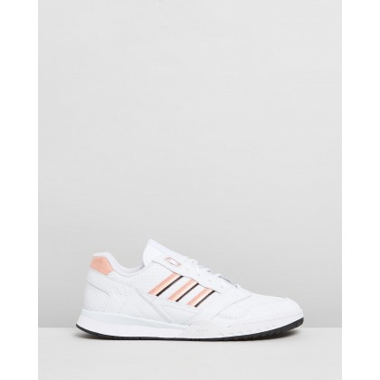 A.R Trainers - Unisex Footwear White, Glow Pink & Core Black by Adidas Originals