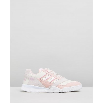 A.R. Trainers - Women's Chalk White, True Pink & Orchid Tint by Adidas Originals