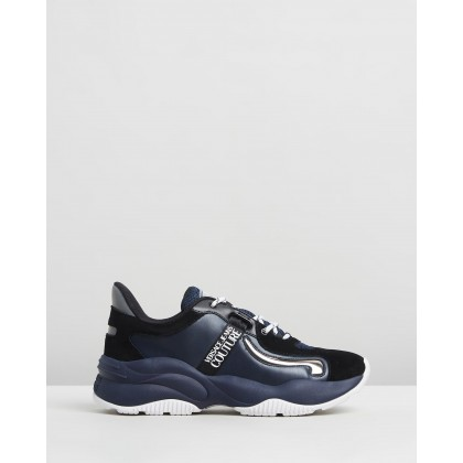 Absolu New Running Sneakers Navy, Black & White by Versace Jeans Couture