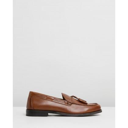 Ace Tasseled Loafers Tan by Double Oak Mills
