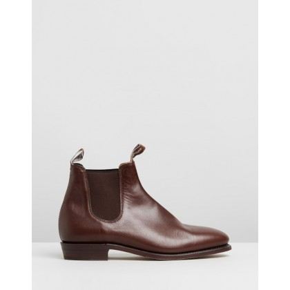 Adelaide E Fit - Women's Dark Tan Yearling by R.M.Williams
