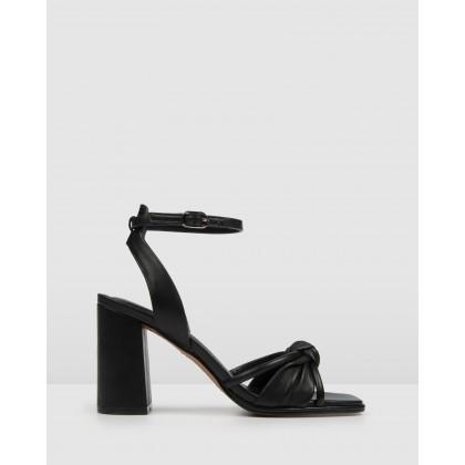 Adia High Sandals Black Leather by Jo Mercer
