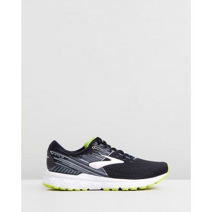 Adrenaline GTS 19 - Men's Black, Silver & Lime by Brooks