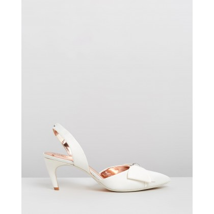 Aidela Heels Ivory Satin by Ted Baker