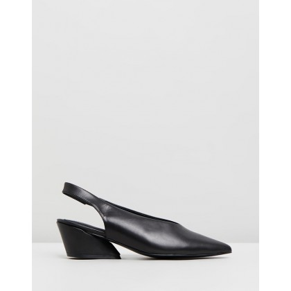 Aim Leather Slingbacks Black by Jaggar The Label