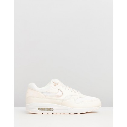Air Max 1 JP - Women's Pale Ivory, Summit White & Guava Ice by Nike