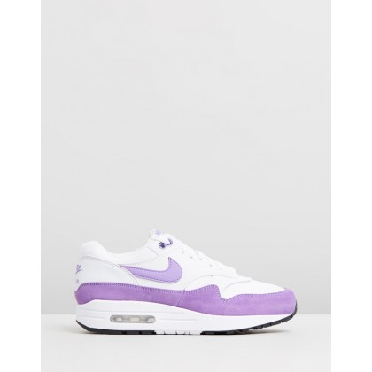 Air Max 1 - Women's Summit White, Atomic Violet & Black by Nike