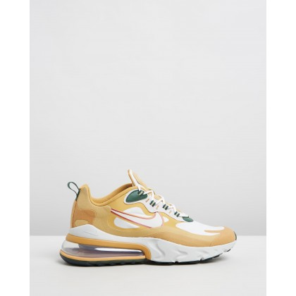 Air Max 270 React - Men's Club Gold, Light Bone, Flt Gold & Wheat by Nike