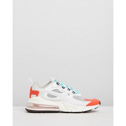 Air Max 270 React - Women's Light Beige, Chalk & Platinum Tint by Nike